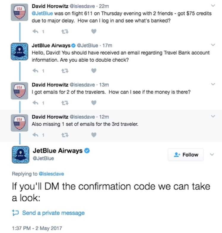 jetblue twitter customer service